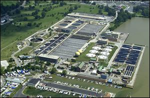The City of Toledo's wastewater treatment plant in Bay View Park.