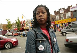 Naquasia LeGrand has helped organize protests by fast-food workers in New York.