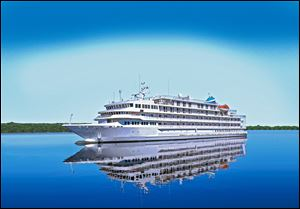 A sketch shows the Pearl Mist, a new ship that will be used for a trio of Great Lake cruises in 2014. Pearl Seas Cruises also plans to cruise between the St. Lawrence River and the Canadian Maritimes.