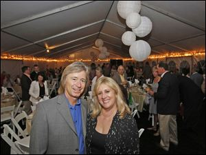 Ric and Lorie Clark, of West Toledo, attended the benefit dinner hosted by Susan and Allan Block at their home in West Toledo. Proceeds from the evening, which was attended by about 200 people, went to the Toledo Area Humane Society.