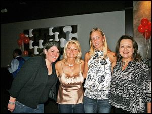 Maureen Mohney, Katrina Iott, Kelly Shrader, who won a 1.29 carat diamond) and Carla Brady were all smiles in their jeans at the Denim and Diamonds fund-raiser for Multiple Sclerosis Society.