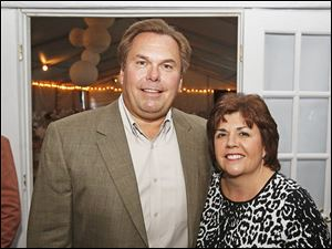 Bob and Kim LaClair, of Monclova, attended benefit dinner hosted by Susan and Allen Block at their home in West Toledo.