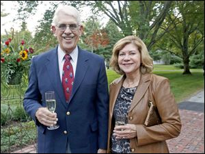 John and Barbara Burson, of Perrysburg, attended the benefit dinner hosted by Susan and Allen Block at their home in West Toledo. Proceeds from the evening, which was attended by about 200 people, went to the Toledo Area Humane Society.
