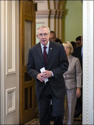 Senate Majority Leader Harry Reid (D., Nev.) told reporters that if Congress can't pass a spending bill to avoid a government shutdown, 'we're truly entering a banana-republican mind-set.'