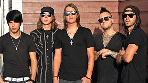 The Red Jumpsuit Apparatus will play today at Frankie's Inner-City.