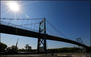 The Anthony Wayne Bridge.