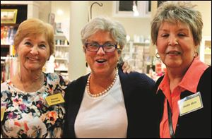 From left, Diana Osterman, hostess Paula Brown, and Dottie Huls at the Cancer Connection of Northwest Ohio, Inc. event.