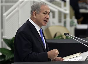 Israeli Prime Minister Benjamin Netanyahu addresses the United Nations General Assembly this week.