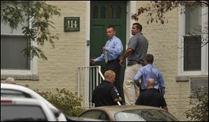 Law enforcement from local, state and federal jurisdictions investigate the residence of Miriam Carey in Stamford, Conn.