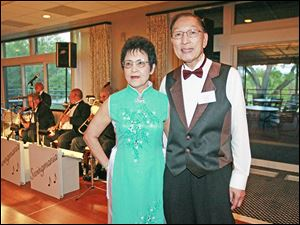 Bernice and David Young enjoy the Cotillion Dance Club's Fall Dance at the Belmont Country Club.