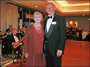 Nita and Fred Harrington enjoy the Cotillion Dance Club's Fall Dance.