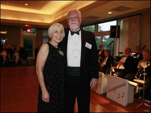 Barbara and William Gunning enjoy the Cotillion Dance Club's Fall Dance at the Belmont Country Club.