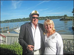 Captain Peter Mainhardt with first mate Tricia Fee Mainhardt.