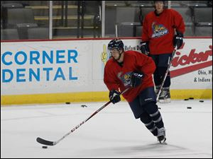 Walleye Alden Hirschfeld, who was born in Sylvania, during camp.