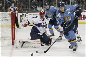 Kyle Rogers ranks first in Walleye history in games played (214), third in goals (47) and first in assists (79).