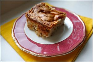 A slice of apple cake.