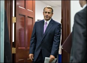 "House Speaker John Boehner vowed on Sunday not to raise the U.S. debt ceiling without a ""serious conversation"" about what is driving the debt, while Democrats said it was irresponsible and reckless to raise the possibility of a U.S. default."