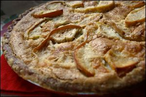 A Braeburn apple tart with brown sugar.