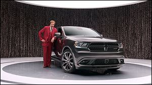 Chrysler's new ad for the 2014 Dodge Durango features Will Ferrell as 'Anchorman' character Ron Burgundy. The risky campaign is scheduled to appear on television until the movie 'Anchorman 2: The Legend Continues,' makes its debut around Christmas. Mr. Ferrell wrote and produced the ads.