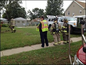 Authorities investigate a gas leak at a Columbia gas structure on West Laskey Road in Toledo.