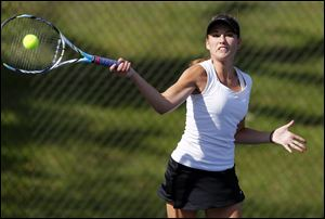 Northview senior Megan Miller has an 81-9 career record and will try to repeat her Division I district title this week. Miller never lost a match in NLL regular-season or tournament play (40-0) and reached the state tournament as a freshman and junior.