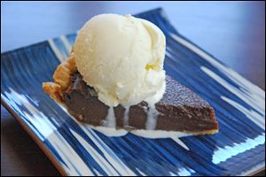 Easy Chocolate-Buttermilk Pie is a good choice for holiday entertaining.