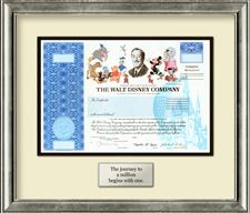 Disney-Stock-Certificates
