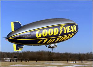 The Goodyear Tire and Rubber Co. blimp,