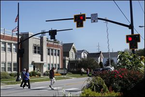 Ohio Department of Transportation and the village of Delta installed a new traffic safety device.