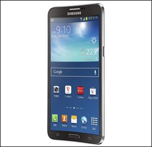 The Samsung Electronics Co. new Galaxy Round, the world's first curved display smartphone.
