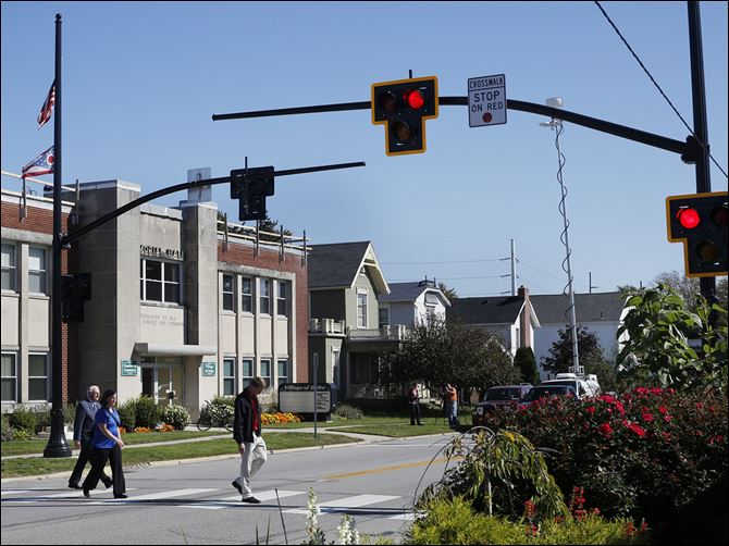 10n5xwalk-1 Ohio Department of Transportation and the village of Delta installed a new traffic safety device.