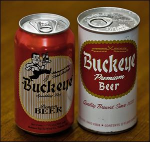 The new can, left, has been updated from the container that the beer came in 41 years ago.