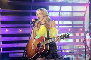 Singer Ashley Monroe performs during the MTV, VH1, CMT & LOGO 2013 O Music Awards in June in New York City.