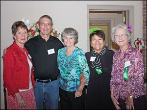 Servers (from left) Grace Bell, Tom Stibbe, Nancy Settles, Kathy Tashima, and Helen Watson