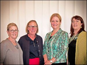 Sponsorship Chair Becky Fuhrman, Event Chair Ann Searles, Speaker Kelly Sheehan, Event Chair Sara Moynihan