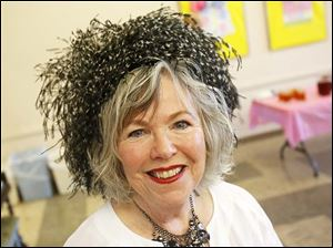 Dorothy Applegate of Sylvania Township wore a vintage Ostrich feather hat.