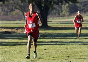 Bowsher's Nate Price took first in the City League boys cross country meet with a time of 16:30.84.