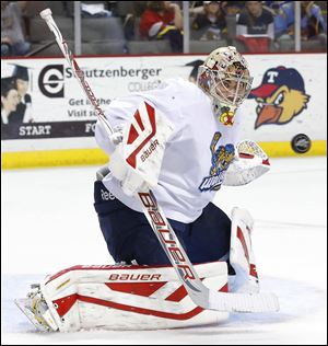 Walleye rookie goalie Mac Carruth finished his exhibition debut with 32 stops.