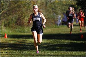 Perrysburg's Taylor Monheim topped the Northern Lakes League girls cross country field at 18:45.75.