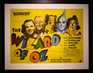 A poster from  'The Wizard of Oz' movie  is one of more than 100,000 Wizard of Oz items owned by filmmaker Willard Carroll, 57, who became enthralled at age 10.