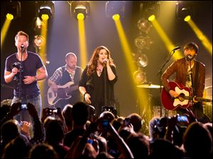Lady Antebellum: from left, Charles Kelley, Hillary Scott, and  Dave Haywood.