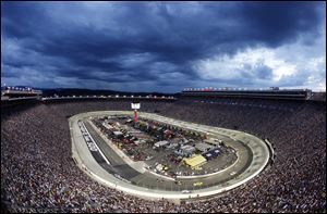 The 52-year-old racetrack sits nearly halfway between the campuses of the two schools, off Interstate 81 in Tennessee. The speedway can hold around 160,000, and organizers are hoping to break the NCAA-recognized attendance record for college football of 115,109, set last month at Michigan Stadium for Michigan-Notre Dame.