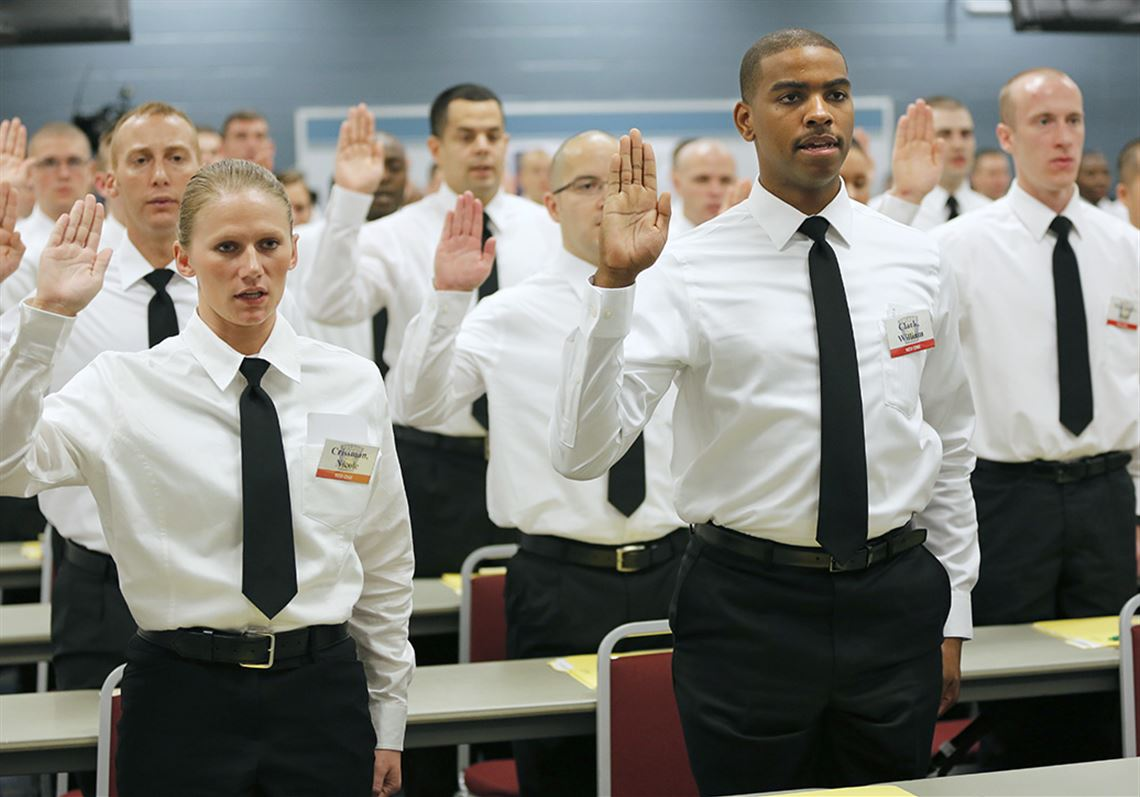 75 energized recruits begin academy's latest training class