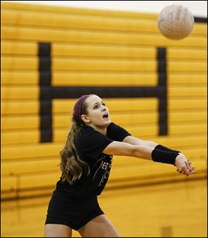 Audra Appold, a junior, leads the team with 313 kills and 39 aces. Perrysburg is 20-2, ranked No. 9 in Division I.
