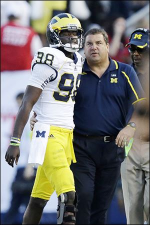 Coach Brady Hoke, right, and QB Devin Gardner say UM has moved on from Saturday's loss.