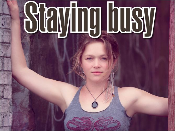Satying busy bowersox Crystal Bowersox will perform at the Monroe County Community College La-Z-Boy Center Meyer Theatre on Saturday night. Music starts at 7:30.