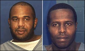 This photo provided by the Florida Department of Corrections shows Joseph Jenkins, left and Charles Walker.
