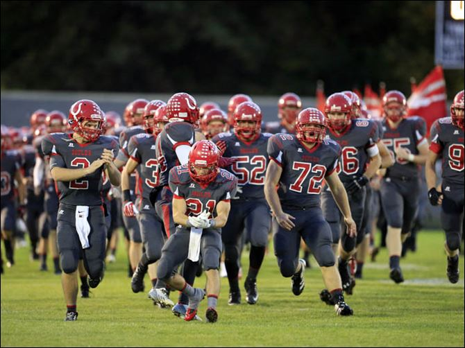 The Mules take the field to play Monroe High School on Friday night at Bedford High School.