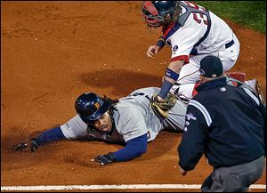 Detroit's Prince Fielder, who did not get an RBI during the ALCS, was tagged out on a baserunning blunder in Game 6.