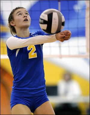 Madelyn McCabe, a senior setter, leads St. Ursula with 302 assists and is second on the team with 37 service aces. The Arrows are 25-0.